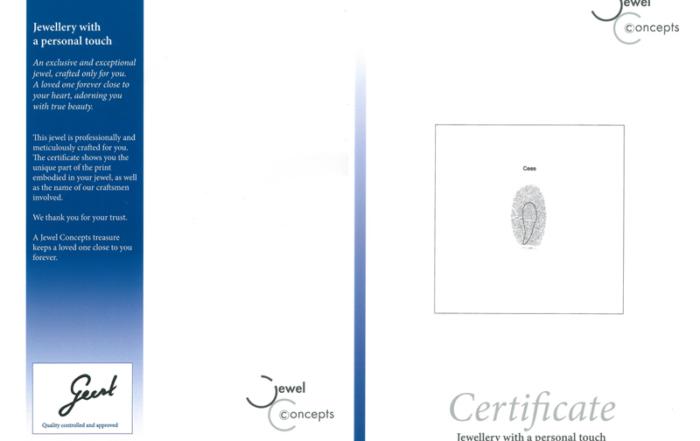 Fingerprint-jewellery-certificaat